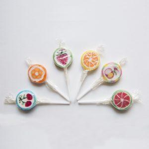 Sucettes Lollipops aux fruits