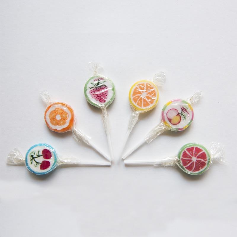 sucette fruits lollipops rétro régressif artisanal