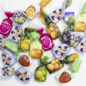 bonbons fourrés fruits emballés enfance excellence