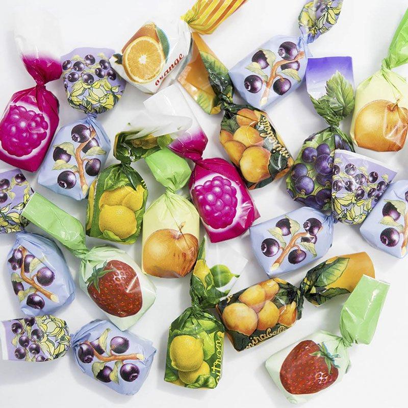 Bonbons fourrés aux fruits