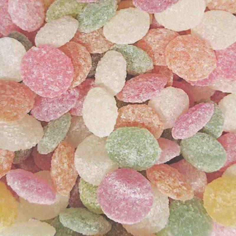 Bonbons acidulés colorés