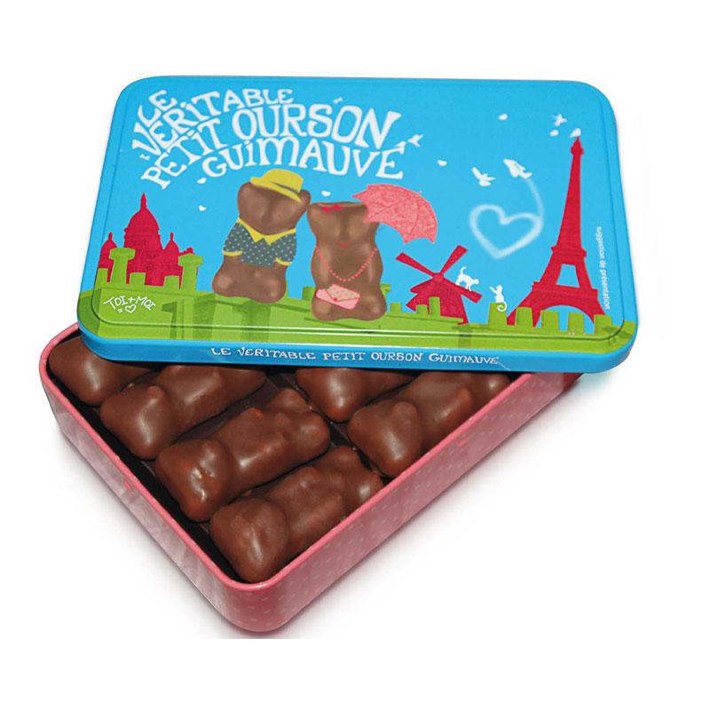 Boîte oursons guimauve collector Noël offrir cadeau