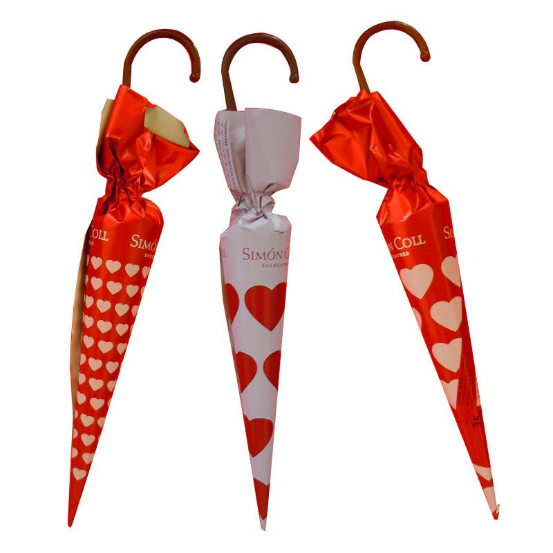 Parapluie coeur au chocolat