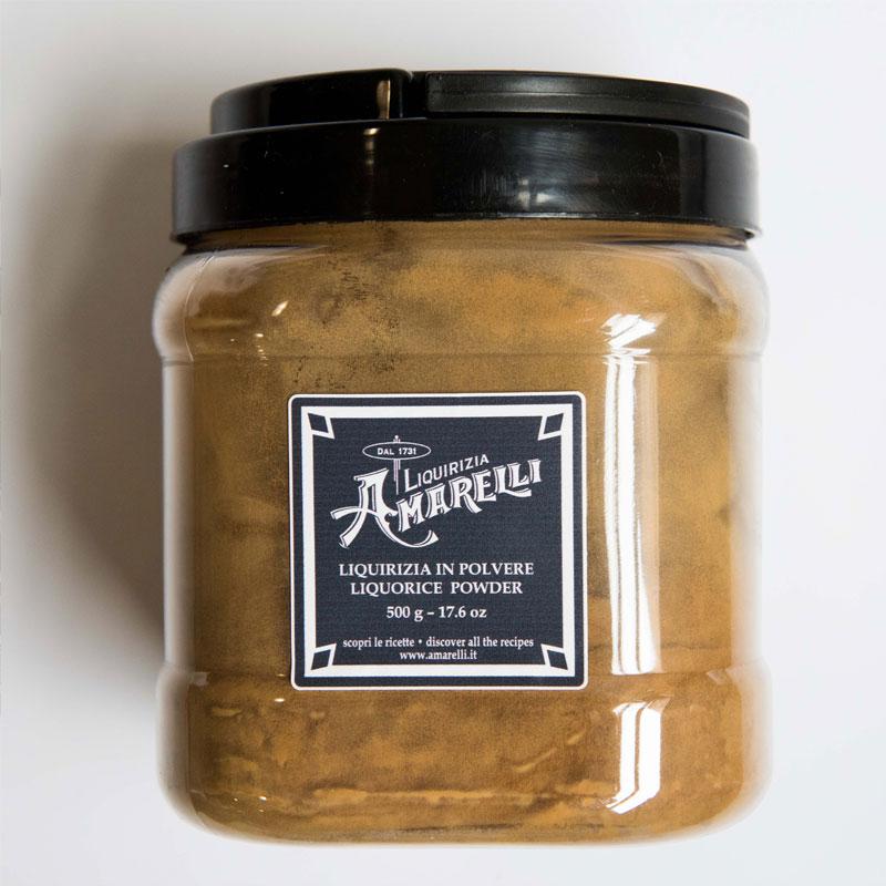 boite poudre réglisse amarelli panacotta glace qualité intense