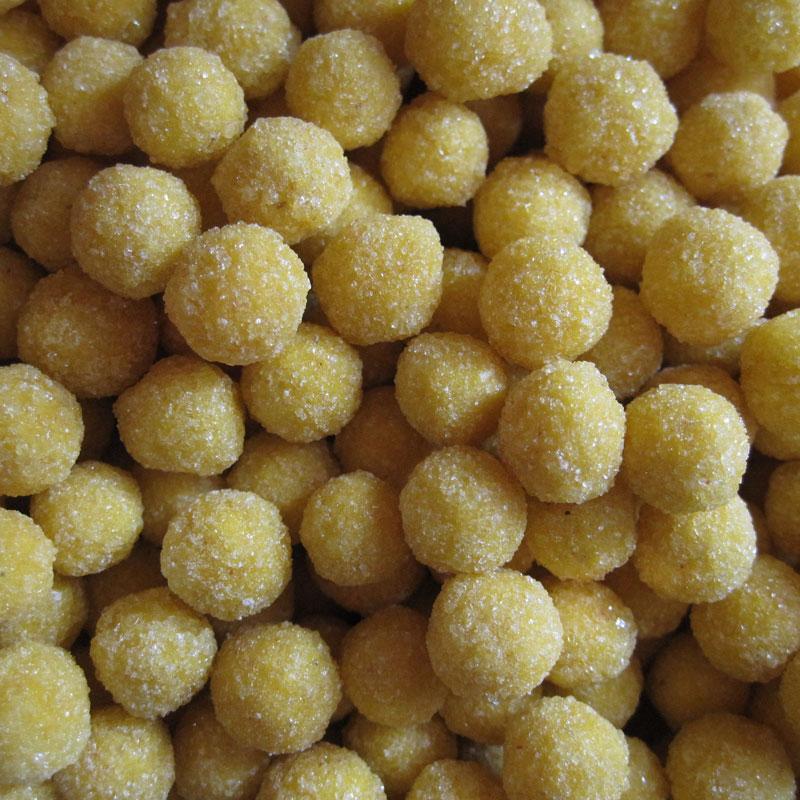 Perles de mimosa cristallisées. Gourmandises d'excellence.