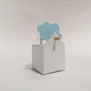 Boite en carton blanche tourillon.