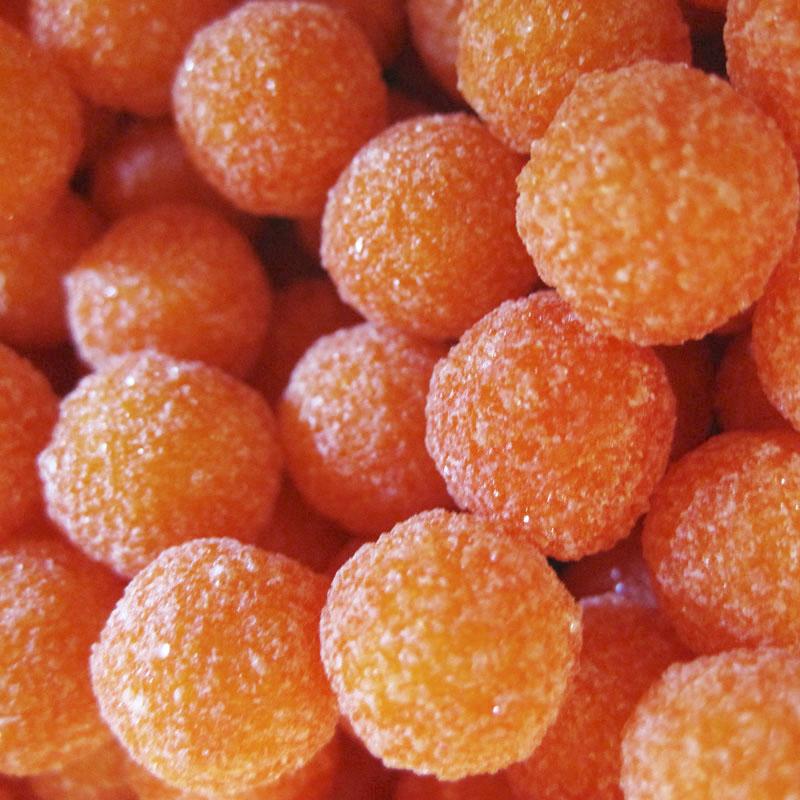 Perles d'arbousier dragées oranges