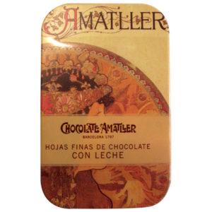 Chocolat au lait Amatller.