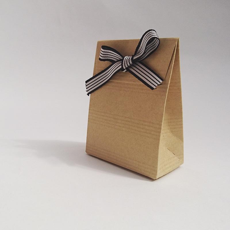 pochette carton pliage personnalisable marron mariage et bapteme