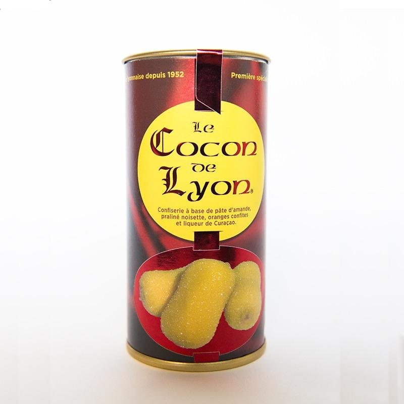 Boîte métallique de cocon lyonnais