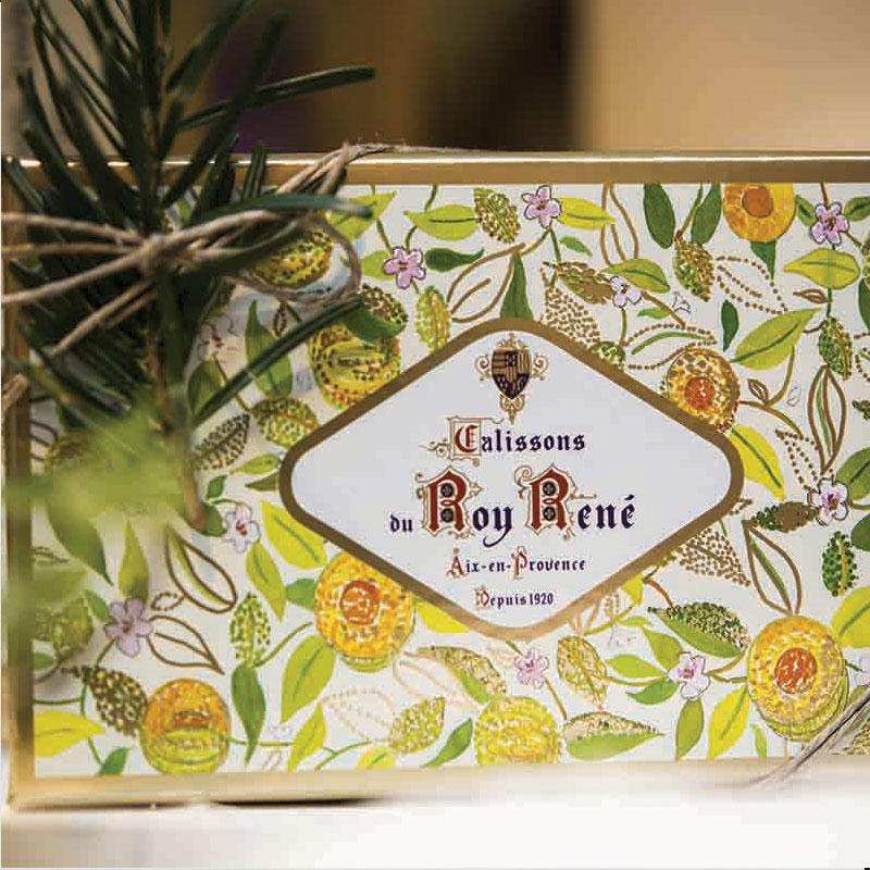 boite carton calissons du roy rené offrir boite aix en provence amandes