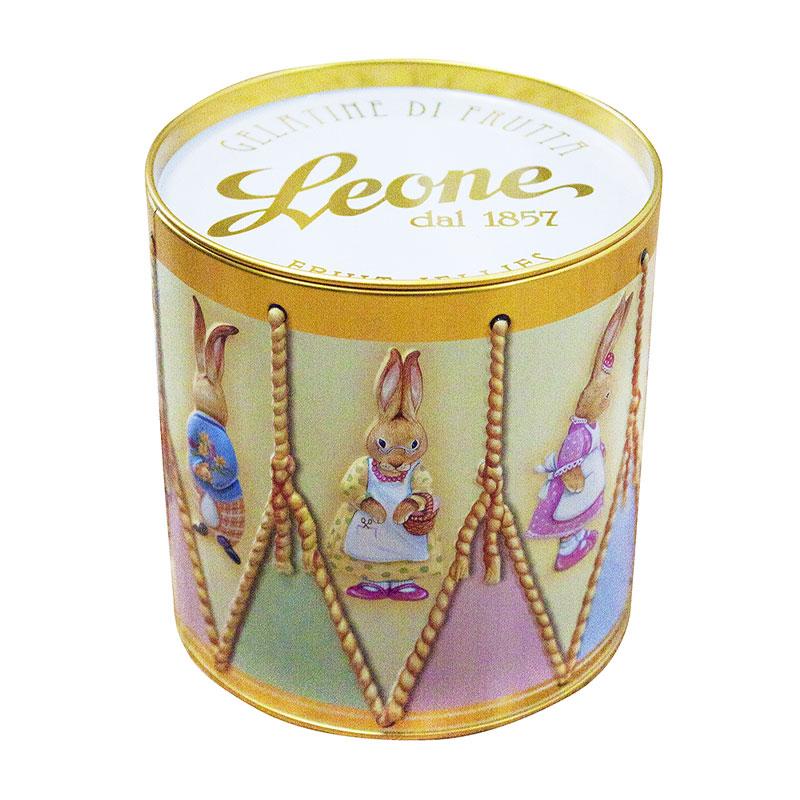 Boite métallique Leone, pâtes de fruits.