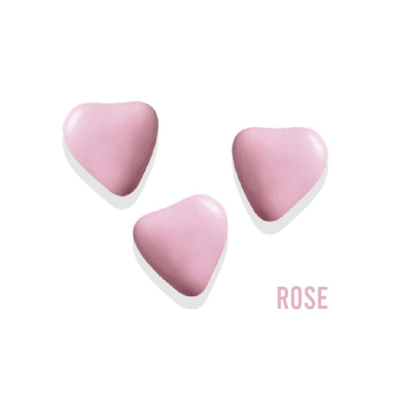 dragée rose chocolat au lait mariage invité