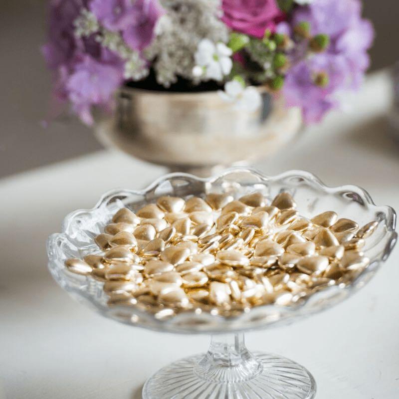 coeur doré mariage excellence cadeau table