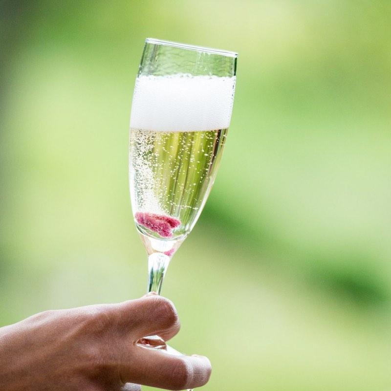 pétale de rose cristallisé champagne mariage douceur