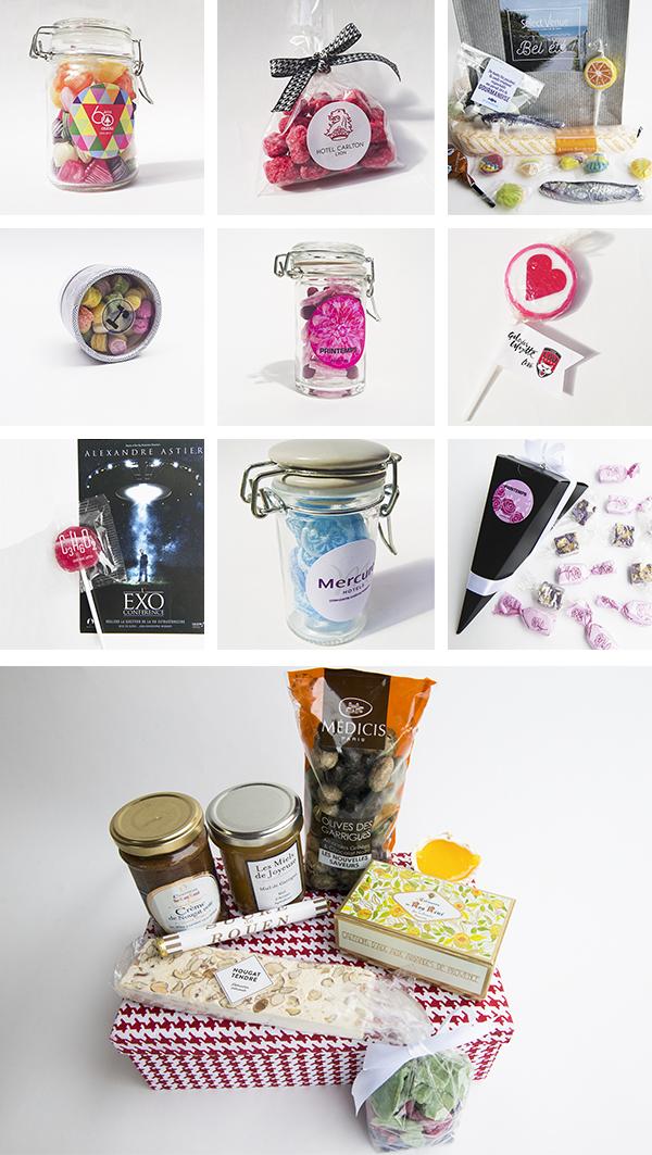 Cadeau bonbons sucreries entreprise personnalisables