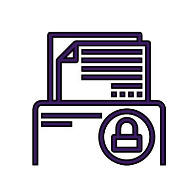 Icône protection de données