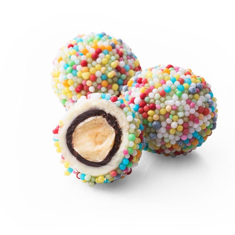 Boule en chocolat cri cri de la maison italienne Mucci.