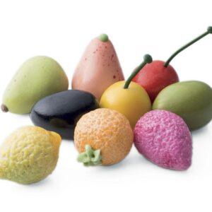 Réglette de fruit en pâte d'amande mucci