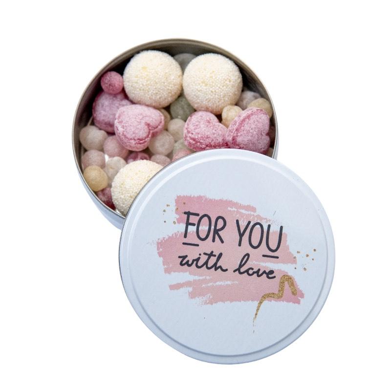 Boite assortiment de bonbons pour la saint Valentin, fête des amoureux à lyon
