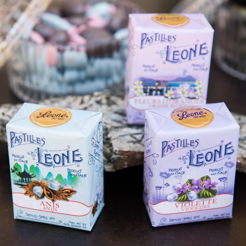 Pastilles Léone italienne. Douceur et gourmandise