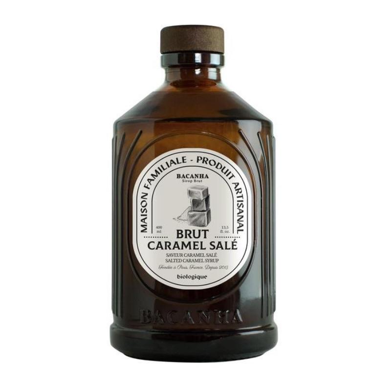Sirop de caramel salé Bacanha bio lyon