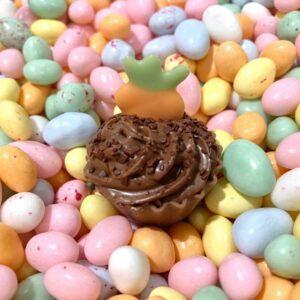 Cupcake carottes chocolat pour Pâques