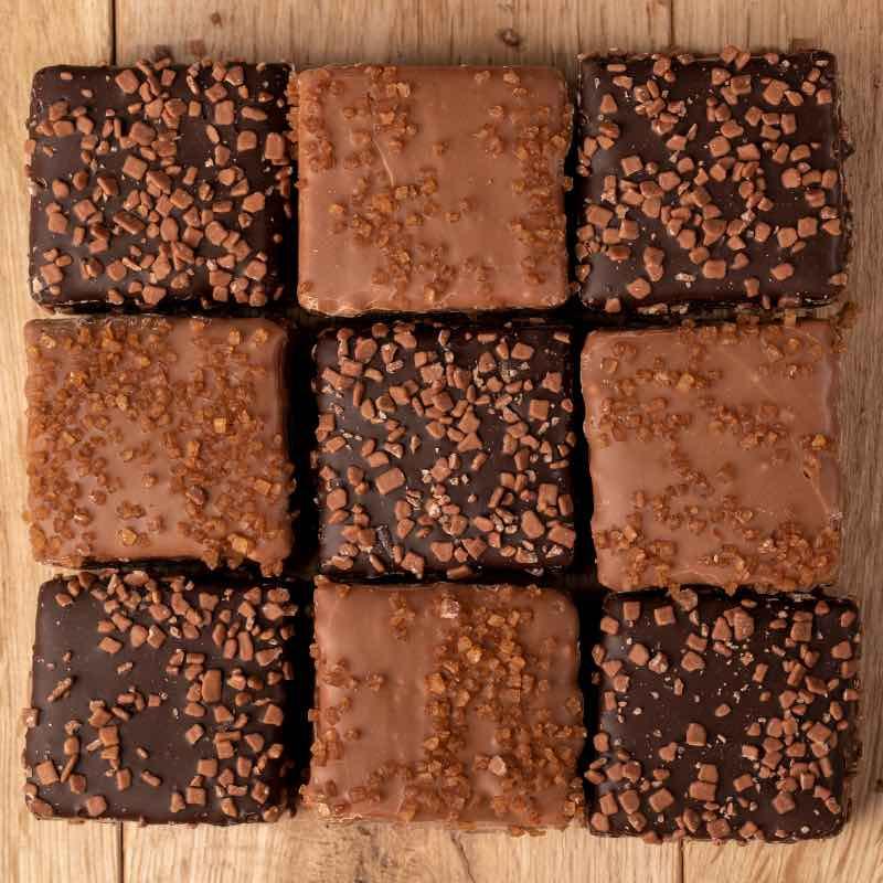 Guimauves tendre - mousse au chocolat, mousse lait speculoos.
