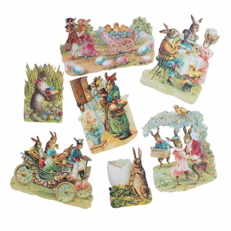 Etiquette de Pâques vintage - Peter Rabbit
