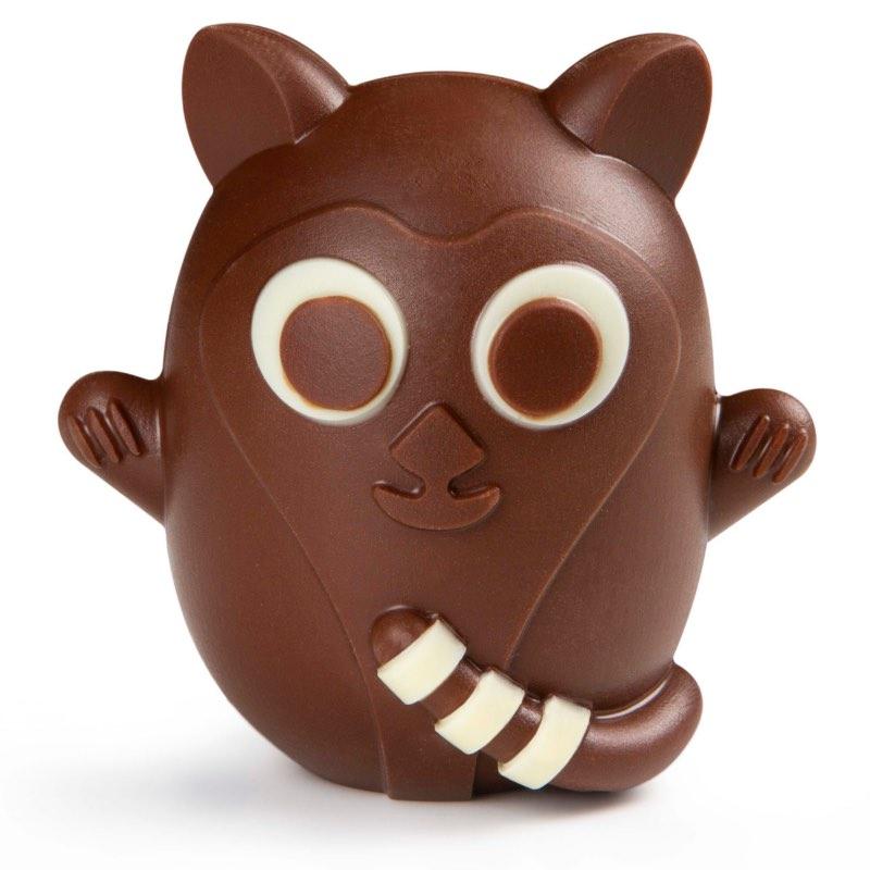 Les animaux de Pâques, petit lémurien en chocolat