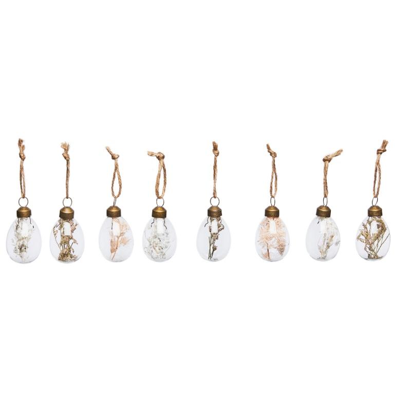 Oeufs en verre à suspendre- décoration de pâques
