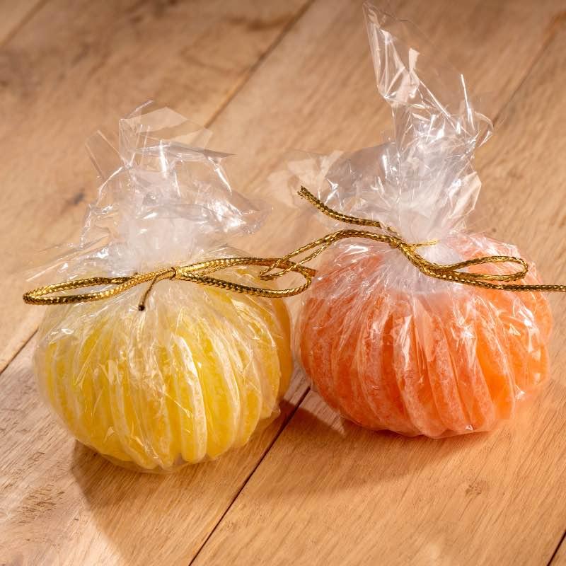 Orange et citron en bonbon