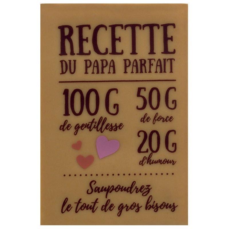 Tablette de chocolat fête des pères recette